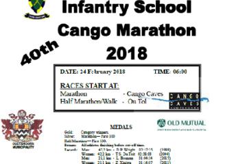 Infantry School Cango Marathon 2018