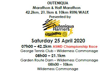 Outeniqua Marathon & Half Marathon
